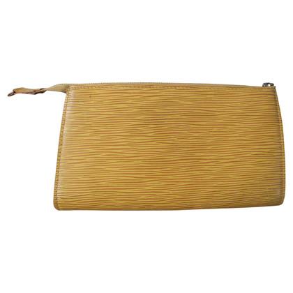 """Louis Vuitton """"Pochette Gialla EPI' in yellow"""