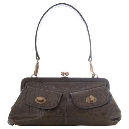 Miu Miu Shoulder bag with crocodile embossing