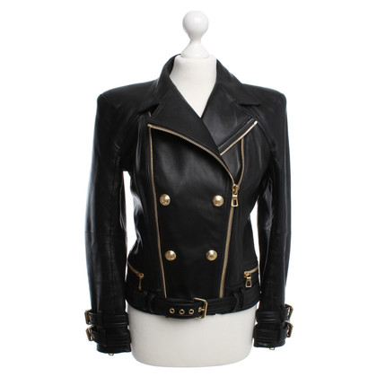 Balmain X H&M Leather jacket in black