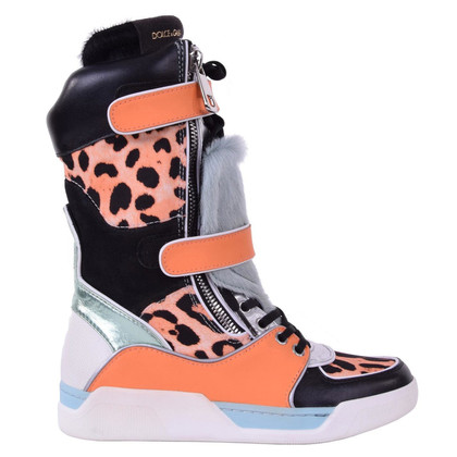 Dolce & Gabbana stivali Patchwork sneaker