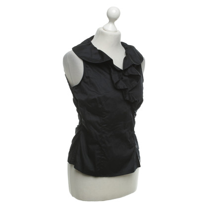 Hobbs Black blouse with flounces