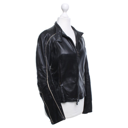 Prada Leather jacket in a biker look