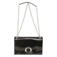 Armani clutch patent leather