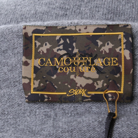 Camouflage Pullover Camouflage Grau in Couture Grau Couture Kaschmir g8rwqngS
