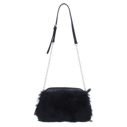 Hugo Boss Shoulder bag made of faux fur