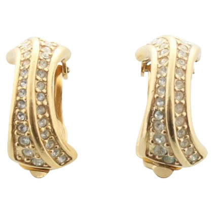 Christian Dior Gold colored earclips