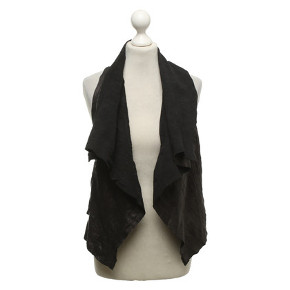 Drome Leather vest in creased look