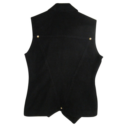 Versace Black cotton waistcoat tg.42