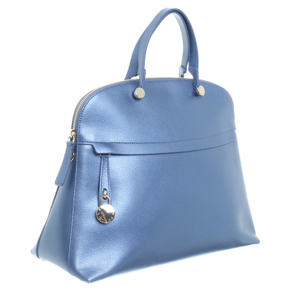 """Furla Tasche """"Piper"""" in Metallic-Blau"""