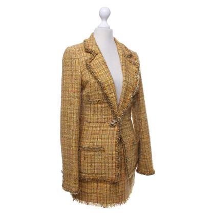 Chanel Checkered bouclé costume