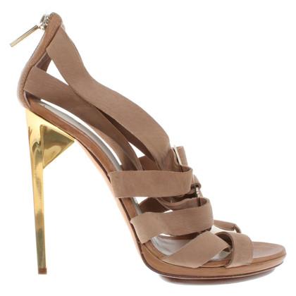 Hervé Léger Suede sandals
