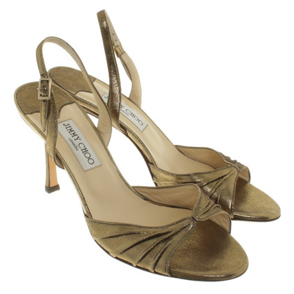 Jimmy Choo Sandaletten in Ocker