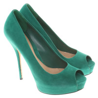 Gucci Peeptoes in green