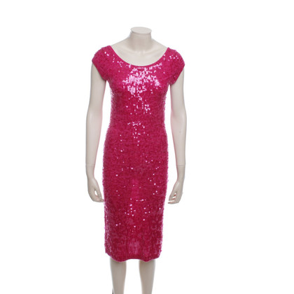 Donna Karan Robe Sequin en rose