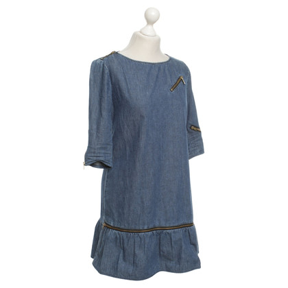 Moschino Love Jean robe en bleu / or