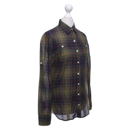 Barbour Shirt blouse with check pattern