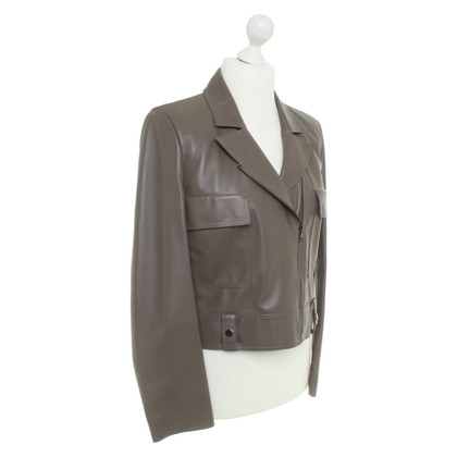 Strenesse Leather jacket in taupe