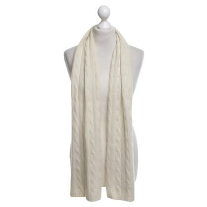 Ralph Lauren Kasjmier sjaal in crème wit