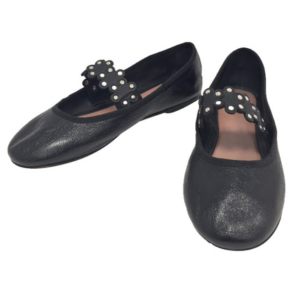 Red Valentino Zwart Ballerina's
