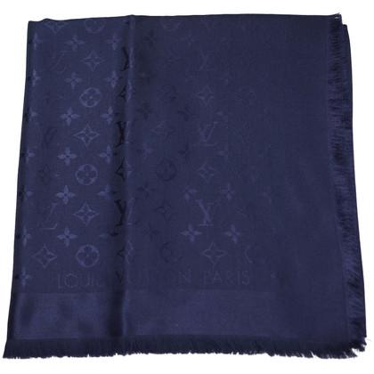 Louis Vuitton Panno di Sciarpa Louis Vuitton Monogram blu