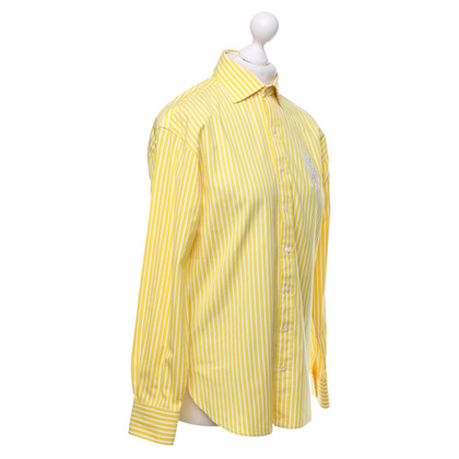 Ralph Lauren Striped blouse in yellow / white