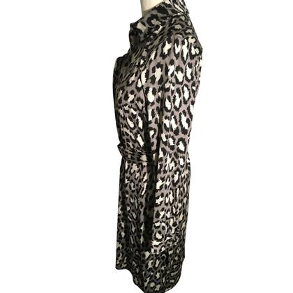Diane von Furstenberg Abito in seta grigio/nero