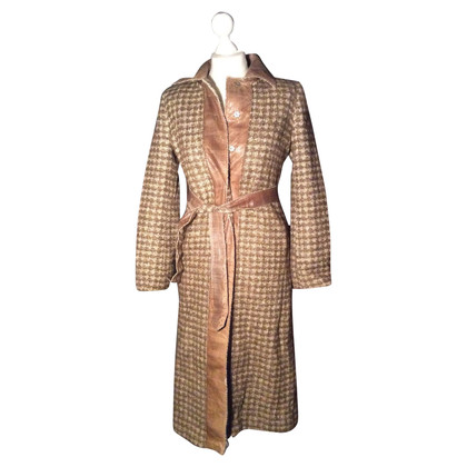 Alberta Ferretti Coat with snake leather details