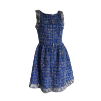 Chanel Bouclé Kleid in Blau