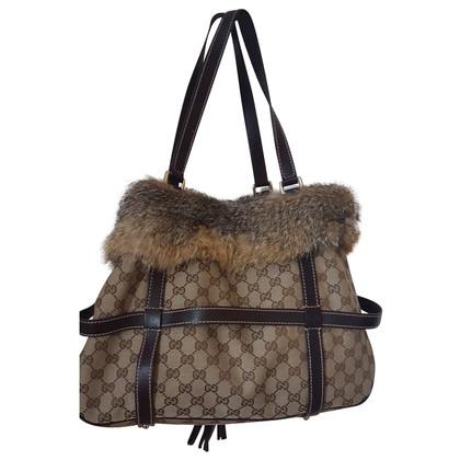 Gucci Shoulder bag with fur trim