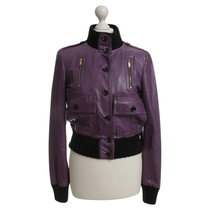 Gucci Leather jacket in purple