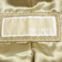 Michael Kors Veloursleder-Jacke in Grün