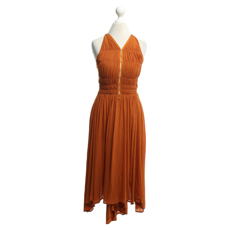 donna karan kleid in orange second hand donna karan. Black Bedroom Furniture Sets. Home Design Ideas