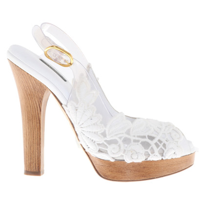 Dolce & Gabbana Leather peep toes