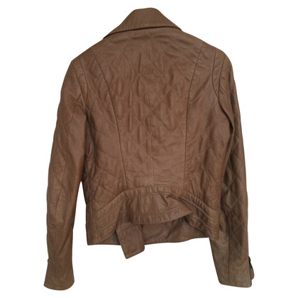 Reiss Leather jacket with quilted pattern