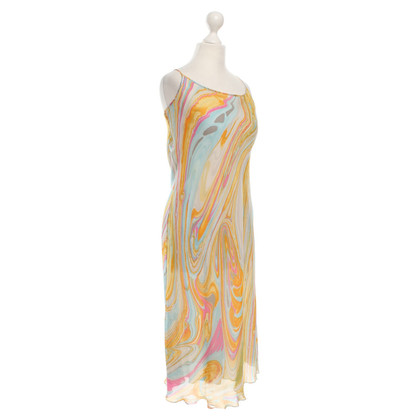 René Lezard Colorful silk dress