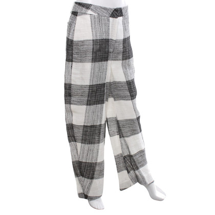 Acne trousers in black and white