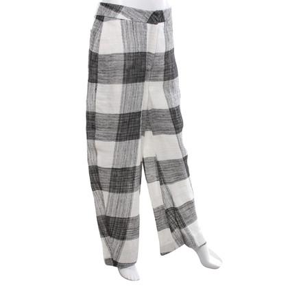 Acne Hose in Schwarz/Weiß