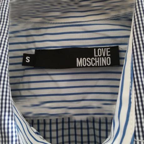 Moschino Love Bluse Moschino Moschino Blau Blau Love Love Bluse Bluse Moschino Bluse Love Blau wq0FS6