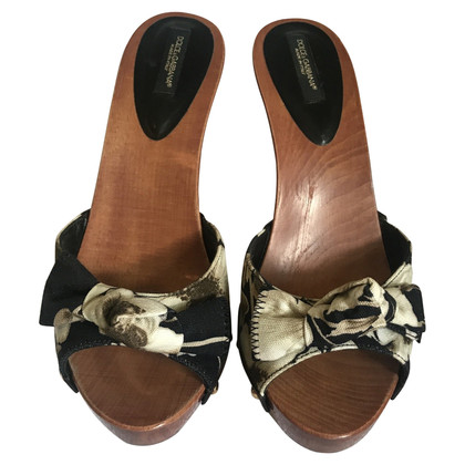 Dolce & Gabbana Pantoletten mit Holzsohle