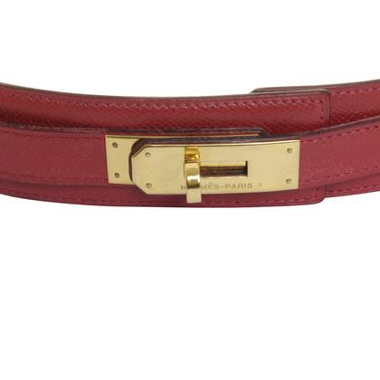 Hermès Kelly riem in het rood