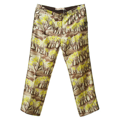 Marni Crease pants with tree-print
