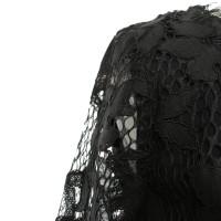 """Diane von Furstenberg Lace dress """"Zarita Scoop"""" in black"""