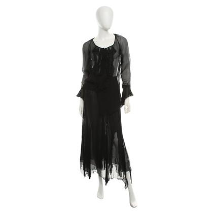 Blumarine Tweedelige jurk in zwart