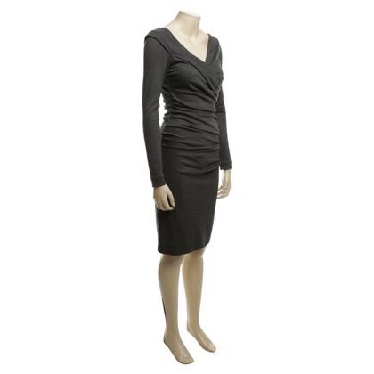 Diane von Furstenberg Wollen jurk met een gedrapeerd hals