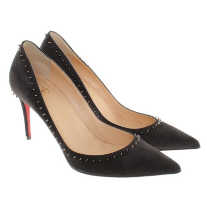 Christian Louboutin Anthrazitfarbene Pumps