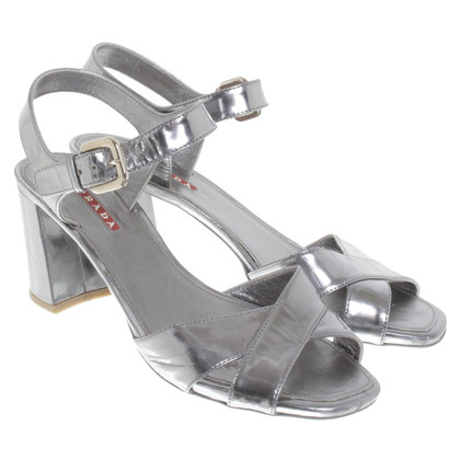Prada Silver colored sandals