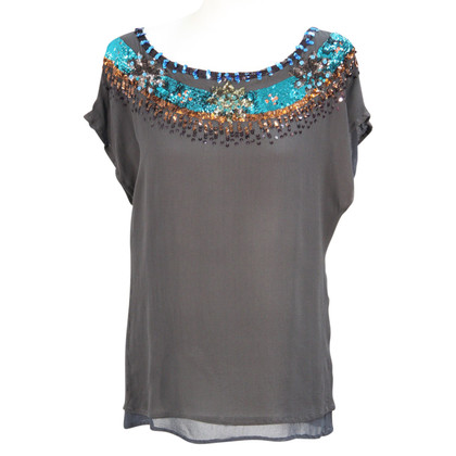 French Connection Silk top in grey