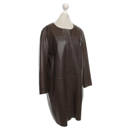 Max Mara Leather coat in brown