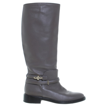 Balenciaga Leather boots with decorative belt