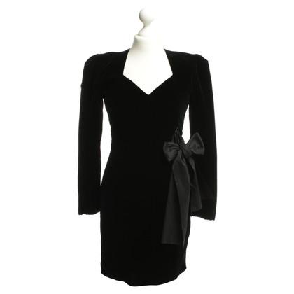 Jil Sander Fluwelen jurk in zwart